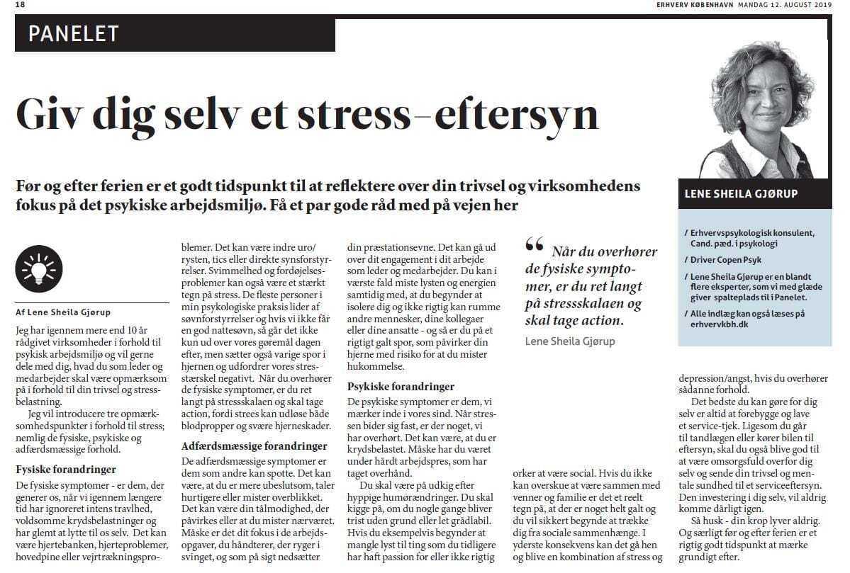 giv dig selv et stresseftersyn